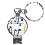 music_notes_2 Nail Clippers Key Chain