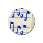music_notes_2 Rubber Round Coaster (4 pack)