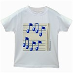 music_notes_2 Kids White T-Shirt