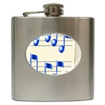 music_notes_2 Hip Flask (6 oz)