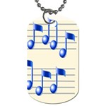 music_notes_2 Dog Tag (Two Sides)