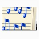 music_notes_2 Postcards 5  x 7  (Pkg of 10)