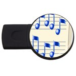 music_notes_2 USB Flash Drive Round (1 GB)