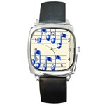 music_notes_2 Square Metal Watch