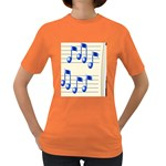 music_notes_2 Women s Dark T-Shirt