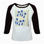 music_notes_2 Kids Baseball Jersey