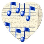 music_notes_2 Jigsaw Puzzle (Heart)