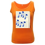 music_notes_2 Women s Dark Tank Top