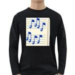 music_notes_2 Long Sleeve Dark T-Shirt