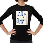 music_notes_2 Women s Long Sleeve Dark T-Shirt