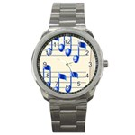 music_notes_2 Sport Metal Watch