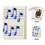 music_notes_2 Playing Cards Single Design