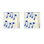 music_notes_2 Cufflinks (Square)