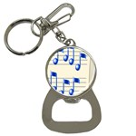 music_notes_2 Bottle Opener Key Chain