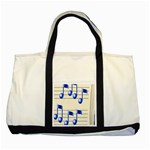 music_notes_2 Two Tone Tote Bag