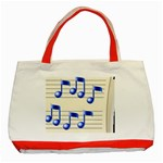 music_notes_2 Classic Tote Bag (Red)