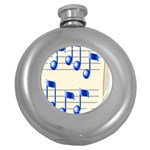 music_notes_2 Hip Flask (5 oz)