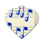 music_notes_2 Dog Tag Heart (One Side)