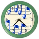music_notes_2 Color Wall Clock