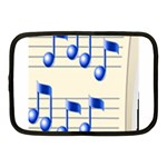 music_notes_2 Netbook Case (Medium)