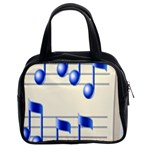 music_notes_2 Classic Handbag (Two Sides)