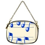music_notes_2 Chain Purse (One Side)