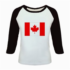 Flag-Canada Kids Baseball Jersey by interestzone