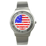 Flag of United States Stainless Steel Watch
