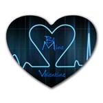 Modern Love Valentine heart Mousemat - Heart Mousepad