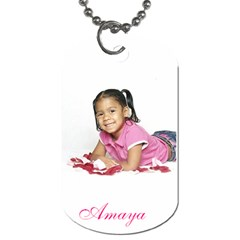 Our Kids By Krystal M    Dog Tag (two Sides)   V1n3o064oku8   Www Artscow Com Front