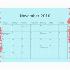 My Calendar By Tawanda   Wall Calendar 11  X 8 5  (12 Months)   28z6ldo6bbos   Www Artscow Com Nov 2010