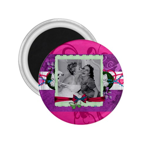 Wedding Magnet Purple By Brookieadkins Yahoo Com   2 25  Magnet   817dwrimbhnx   Www Artscow Com Front