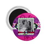 Wedding magnet purple - 2.25  Magnet