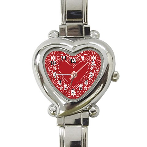 Heart Watching By Wood Johnson   Heart Italian Charm Watch   0km1lrkykq9o   Www Artscow Com Front