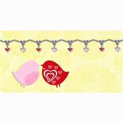 Love Birds 8 x4  Photo Card - 9