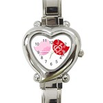 Love birds watch - Heart Italian Charm Watch
