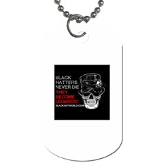 Black Hatters Never Die 2 -  Dog Tag (One Side) by BlackHatWorld