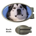 Alaskan Malamute Dog Money Clip (Oval)