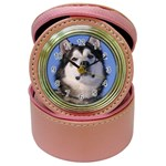 Alaskan Malamute Dog Jewelry Case Clock