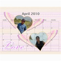 Calender 2010 By Amrita   Wall Calendar 11  X 8 5  (12 Months)   Iinqy6otbrzj   Www Artscow Com Apr 2010