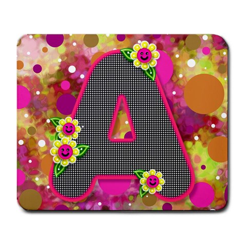 Retro Polkadot With All Checkered A By Bonnie Cheshier   Large Mousepad   Jm9hg3l31qza   Www Artscow Com Front
