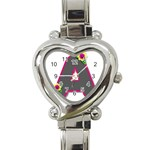 Personalized watch - Heart Italian Charm Watch