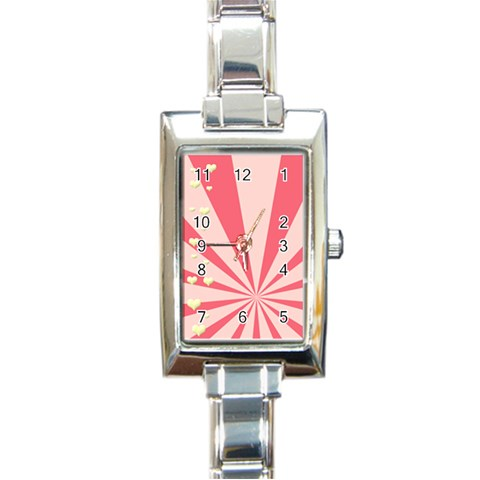 Love Stamp Watch By Gina   Rectangle Italian Charm Watch   Z3vs486xkrh4   Www Artscow Com Front