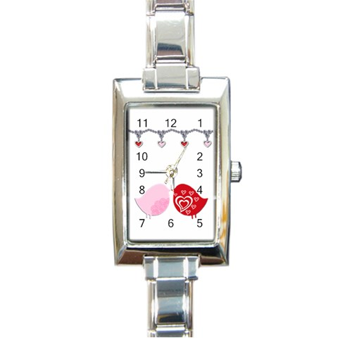 Love Birds   Copy Me! By Gina   Rectangle Italian Charm Watch   Br0cv6f16rpm   Www Artscow Com Front