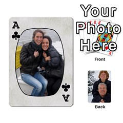 Ace Huwelijk By Arielle   Playing Cards 54 Designs   3bei5h0hmwru   Www Artscow Com Front - ClubA