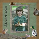 Kids Adventure Walk Scrapbook Pages - ScrapBook Page 12  x 12