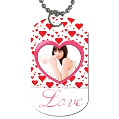 Love By Wood Johnson   Dog Tag (two Sides)   Otfnc9m4mh0c   Www Artscow Com Front