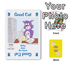2010 Good Cat Bad Cat By Steve Sisk   Playing Cards 54 Designs   Mzvfcos5nr6j   Www Artscow Com Front - Spade2