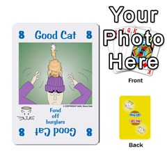 2010 Good Cat Bad Cat By Steve Sisk   Playing Cards 54 Designs   Mzvfcos5nr6j   Www Artscow Com Front - Spade3