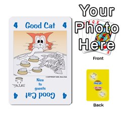 King 2010 Good Cat Bad Cat By Steve Sisk   Playing Cards 54 Designs   Mzvfcos5nr6j   Www Artscow Com Front - SpadeK